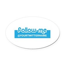 Personalizable Twitter Follow Oval Car Magnet