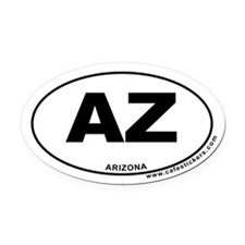 Arizona Oval Car Magnet