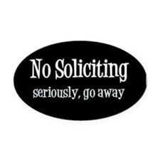 Unique Solicitor Oval Car Magnet