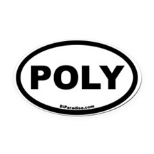 POLY Oval Car Magnet