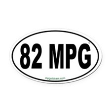 82 MPG Euro Oval Car Magnet