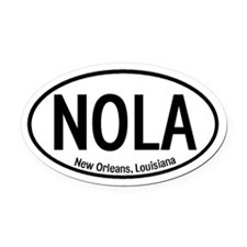NOLA New Orleans, Louisiana Oval Car Magnet