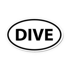 DIVE Oval Car Magnet