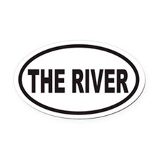 THE RIVER Euro Oval Car Magnet