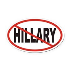 No Hillary Euro Oval Car Magnet