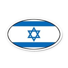 Israeli Flag Oval Car Magnet