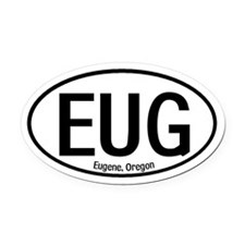 Eugene, Oregon Oval Car Magnet