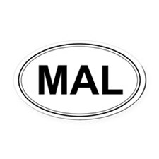 Belgian Malinois Oval Car Magnet