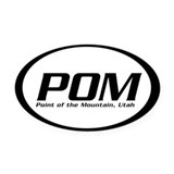 Point of the Mountain Oval Car Magnet (1)