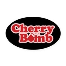 Cherry Bomb Oval Car Magnet
