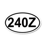 240Z Oval Car Magnet