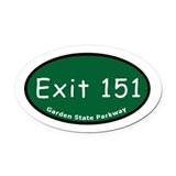 Exit 151 - Watchung Avenue - Oval Car Magnet