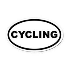 Cycling Euro Oval Car Magnet
