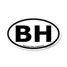 Beverly Hills, California Oval Car Magnet