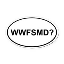 WWFSMD? Oval Car Magnet