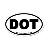 DOT Wyandotte County Kansas Euro Oval Car Magnet