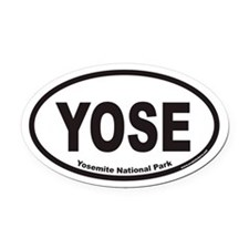Yosemite National Park YOSE Euro Oval Car Magnet