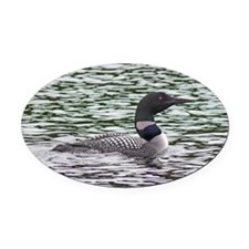 Loon Oval Car Magnet
