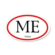 Maine Oval Decal (Oval Car Magnet)