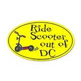Ride Scooter out of DC Oval Car Magnet