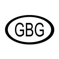 Guernsey Car Oval Car Magnet / Decal (Oval)