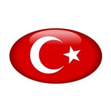 Turkey Oval Car Magnet