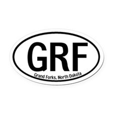 Grand Forks, North Dakota Oval Car Magnet