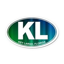 Key Largo FL - Oval Car Magnet