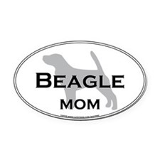 Beagle MOM Oval Car Magnet