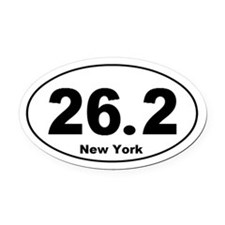 26.2 New York Oval Car Magnet