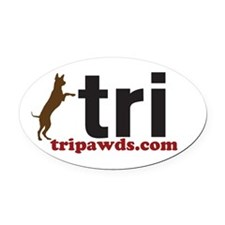 Tri Nation Standing GSD Oval Car Magnet