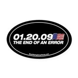 End of an error Oval Car Magnet