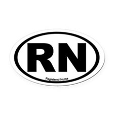 Registered Nurse Oval Car Magnet