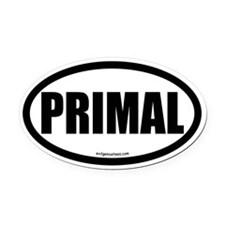 Primal auto decal health fitness Oval Car Magnet