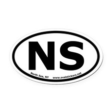 North Sea, New York Oval Car Magnet