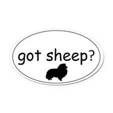 Cute Herd Oval Car Magnet