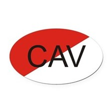 Cavalry Oval Car Magnet