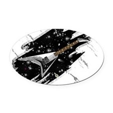 Flying V Guitar Oval Car Magnet