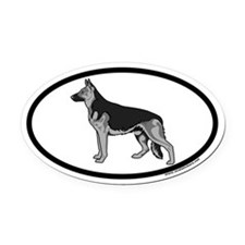 German Shepherd Euro Oval Car Magnet