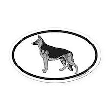 German Shepherd Euro Oval Car Magnet