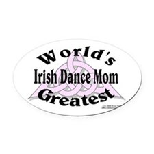 Greatest Mom - Oval Car Magnet