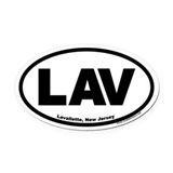 Lavallette, New Jersey LAV Oval Car Magnet