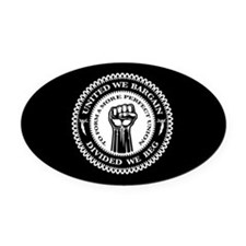 United We Bargain Oval Car Magnet