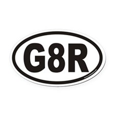 G8R Euro Oval Car Magnet