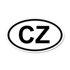 CZ Oval Car Magnet