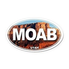 Moab, Utah - Oval Car Magnet