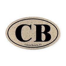 Cocoa Beach CB Euro Oval Oval Car Magnet