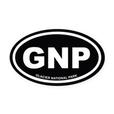 Black Glacier National Park Euro Oval Car Magnet
