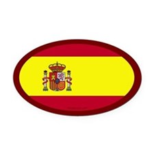 Spanish Flag Oval Car Magnet