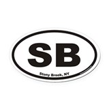 Stony Brook SB Euro Oval Car Magnet